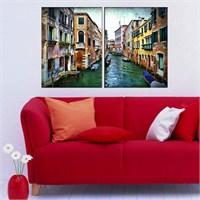 Canvastablom İ107 Venedik Kanal Parçalı Tablo