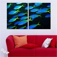 Canvastablom İ206 Balıklar Parçalı Tablo