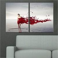 Canvastablom İ553 Woman Parçalı Canvas Tablo