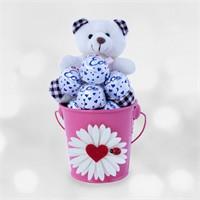 Doğum Günü Hediyesi Şansın Açık Olsun Sevgi Çiçeği Kovası