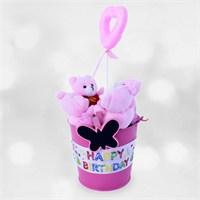 Doğum Günü Hediyesi Happy Birthday Pembe Büyü