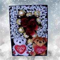 Sevgiliye Romantik Hediye Çikolata Kalp