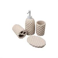 Evino 5'Li Banyo Sıvı Sabunluk Seti Granit Görünümlü