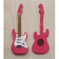 Minyatür Gitar Magnetler Ahşap Mın10-5
