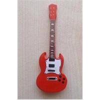 Minyatür Gitar Magnetler Ahşap Mın10-7