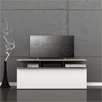 Adore Vision Çekmeceli Tv Sehpası Latte-Parlak Beyaz 117X48x40 Cm