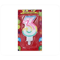 Kullanatmarket 3 Yaş Doğum Günü Mum 1 Adet