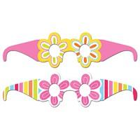 KullanAtMarket Neşeli Pembe Çiçekler Parti Gözlüğü 8 Adet