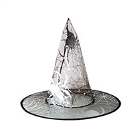 KullanAtMarket Gümüş Örümcekli Cadı Şapkası 1 Adet