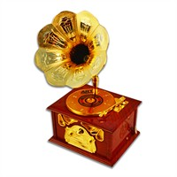 Cebay Home Gramafon Model Hazneli Müzik Kutusu