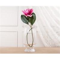 Madame Coco Dekoratif Yapay Çiçek Koyu Pembe Manolya 80 Cm