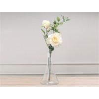 Madame Coco Dekoratif Yapay Çiçek Beyaz Gül 87 Cm
