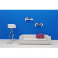 Arrows Estetik Duvar Rafı Ve Kitaplık - Beyaz