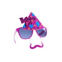 KullanAtMarket Birthday Girl Pembe Gözlük 1 Adet