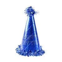 KullanAtMarket Happy New Year Mavi Yılbaşı Şapkası 1 Adet