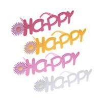 KullanAtMarket Çiçekli Happy Parti Gözlük 1 Adet