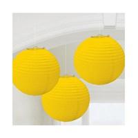 KullanAtMarket Sarı Kağıt Fener Seti 3 Adet