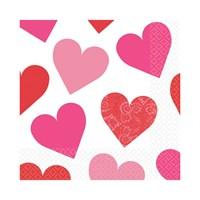 Kullanatmarket Kalpler Peçete 16 Adet