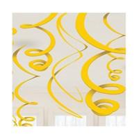 KullanAtMarket Sarı Süs Dalgası 12 Adet
