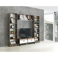Home De Bella Glory Tv Ünitesi - Duvar Rafı - Kitaplık Seti