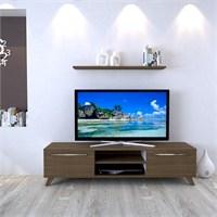 Eyibil Mobilya 160 Cm Ceviz Aleyna Tv Sehpası Tv Ünitesi Duvar Raflı