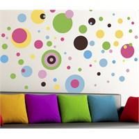 Dekorjinal Duvar Sticker Renkli Yuvarlaklar - Kst43