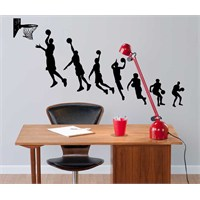 Dekorjinal Smaç Basan İnsanlar Duvar Sticker - Nst82