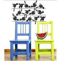 Dekorjinal Teldeki Kuşlar - 1 Duvar Sticker - St36