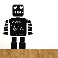 Dekorjinal Yazılabilir Sticker Robot Desen - Ys05