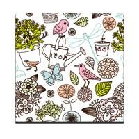 Dolce Home Pembe Renk Kuşlar Dekoratif Tablo Dg1b1k20m32