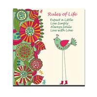 Dolce Home Rules Of Life Dekoratif Tablo Dg1b1k20m27