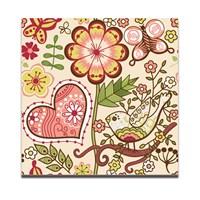 Dolce Home Dekoratif Tablo Çiçek Ve Kalp Dg1b1k20m6