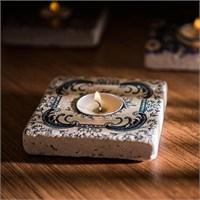 Oscar Stone Doğaltaş Mumluk-117