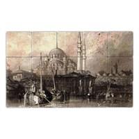 Oscar Stone Baskılı Taş Tablo - Osmanlı
