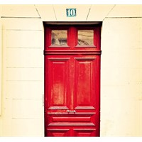 Fotocron Kırmızı Ahşap Kapı Tablo