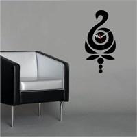 Dekoratif Kırılmaz Saat Siyah Desen
