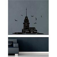 Kız Kulesi Ve Kuşlar Duvar Sticker