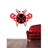 Kırmızı Tribal Duvar Sticker