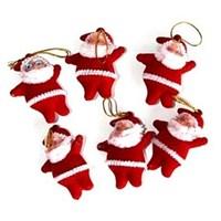 Noel Baba Figürü 6 Lı Kırmızı Renk
