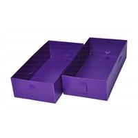Plastik Mor 2 Bölmeli Kutu 30.5X15X7 Cm Büyük
