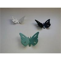 Kelebek Askı 3'lü Set Beyaz