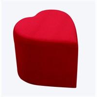 Kırmızı Kumaş Kalp Puf