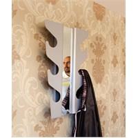J-me Beyaz Aynalı Dalgalı Askı
