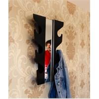 J-me Siyah Aynalı Dalgalı Askı