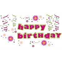 Eurographics Happy Birthday 25X35 Cm Duvar Sticker
