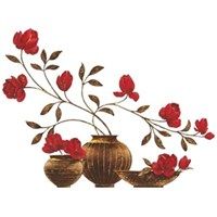 Eurographics Red Flower Vase 50X70 Cm Duvar Sticker