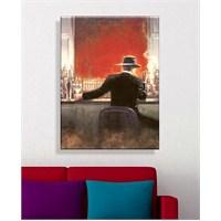 Barda Şapkalı Adam Dekoratif Kanvas Tablo