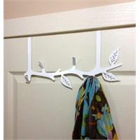 Yaprak Dalı Askı Standart Kapıya Uygun Beyaz