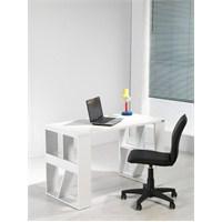 Dessenti Nizza Çalışma Masası - Beyaz/Beyaz