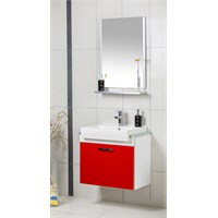 Öykü 65 Cm Banyo Dolabı - Kırmızı